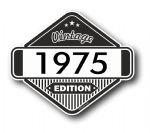 VIntage Edition 1975 Classic Retro Cafe Racer Design External Vinyl Car Motorcyle Sticker 85x70mm